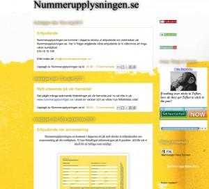 Nummerupplysningen - blogg