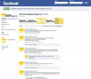 Nummerupplysningen på Facebook