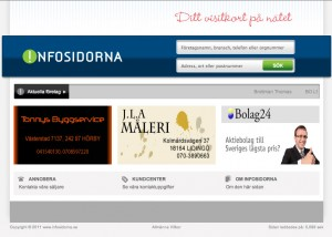 Infosidorna hemsida