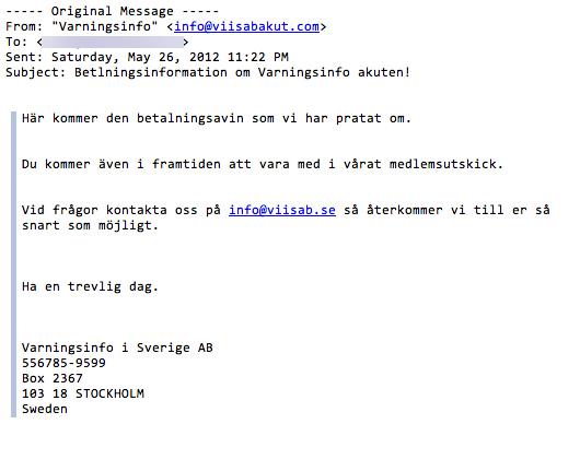 Mail - Varningsinfo