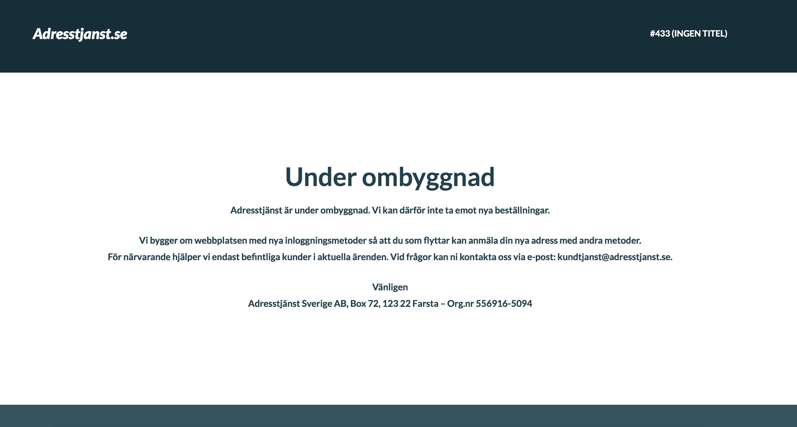Domstolsbeslut mot Adresstjänst Sverige AB