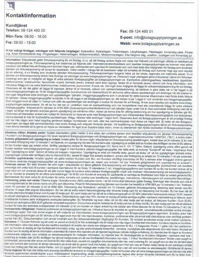 Bolagsupplysningen Bolagsupplysningen OÜ Allmänna villkor