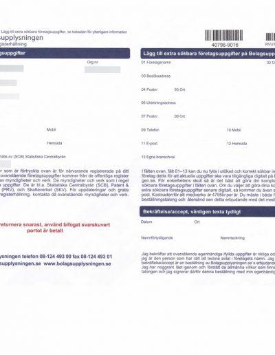 Bolagsupplysningen Bolagsupplysningen OÜ Formulär sida 1