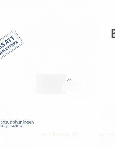 Bolagsupplysningen Bolagsupplysningen OÜ Returkuvert framsida 2014