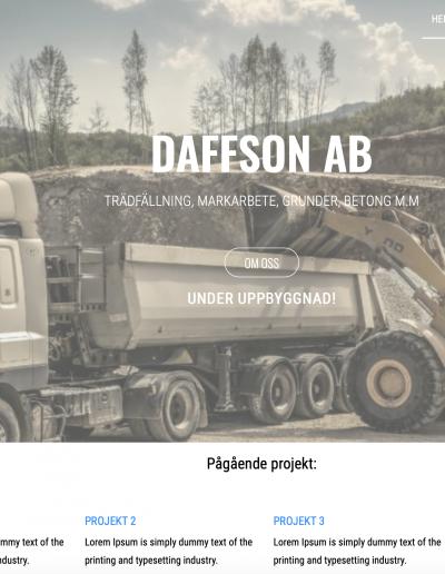 Daffsson Daffsson AB Hemsida