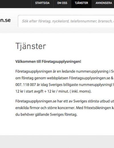 Företagsupplysningen Infodirekt Norden AB Hemsida - Företagsupplysningen