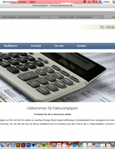 Fakturahjälpen Prosale Marketing AB Hemsida