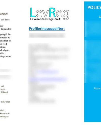 LevReg.se Profilering 2015