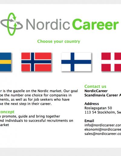 Nordic Career Scandinavia Career AB Hemsida