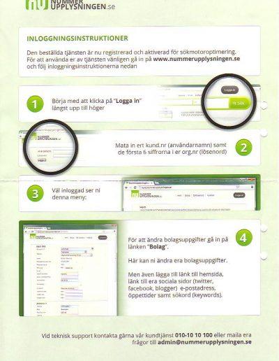 Nummerupplysningen.se Nummerupplysningen OÜ Inloggningsinstruktioner (grön) (13)