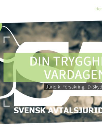 Svensk Avtalsjuridik Svensk Avtalsjuridik AB Hemsida 2014
