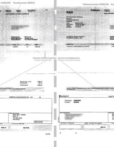 118200 Mellanhand Media Jämförelse - 118 200 (ÅRO AB) och RXH Konsult 2012