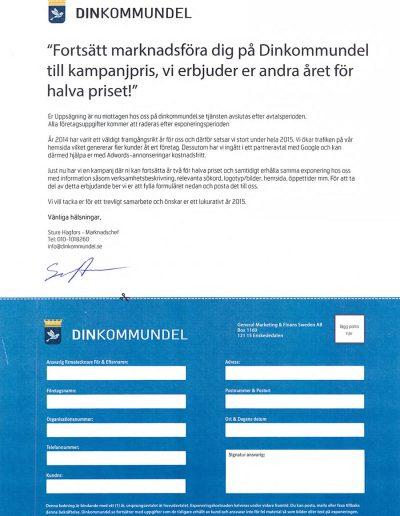 Din Kommundel General Marketing & Finans Sweden AB Talong