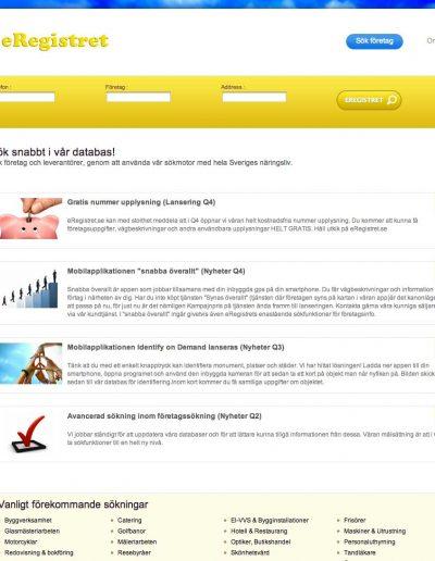 Eregistret.se Addictive Sales AB Hemsida 2012