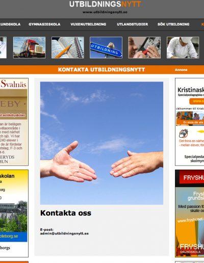 Utbildningsnytt Sthlm Reklamhantverk & Produktion AB Hemsida